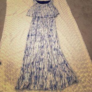Robert Louis flounce maxi dress